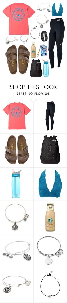 """School yesterday"" by nikeprepster16 on Polyvore featuring NIKE, Birkenstock, The North Face, CamelBak, Charlotte Russe, Alex and Ani, Lilly Pulitzer and Fitbit"