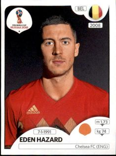 Eden Hazard - Bélgica World Cup Russia 2018, World Cup 2018, Fifa World Cup, Uefa Football, Sport Football, Soccer Cards, Football Cards, Eden Hazard Chelsea, Football Updates