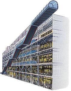 Pompidou Paris, Georges Pompidou, Renzo Piano, Richard Rogers, Museum Architecture, Centre Pompidou, Art Moderne, Europe Destinations, Facades