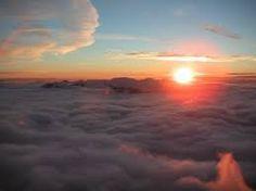 Image result for sunrises above clouds
