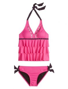c8f753a724 Justice is your one-stop-shop for on-trend styles in tween girls clothing    accessories. Shop our Embellished Ruffle Tankini - MOOS.
