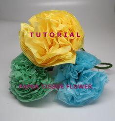 Easy How to do Tissue Paper Flowers (Pom Pom) Tutorial