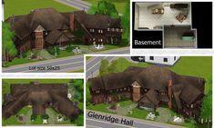 Sims 4 House Plans, House Floor Plans, Minecraft House Designs, Minecraft Houses, The Sims, Sims 3, Salvatore Boarding House, School Floor Plan, Vampire House