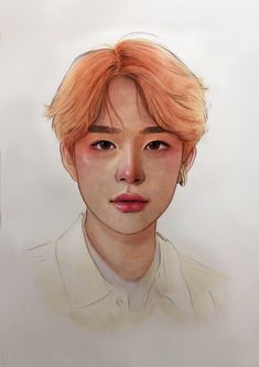 """""""i've been struggling a lot lately with my art so i decided to try picking up a paintbrush again. it's going to be a relearning process, but i'm hoping that's what will rekindle my passion for art. in the meantime please take this good boy 💚 Kpop Drawings, Art Drawings, Fanarts Anime, Kpop Fanart, Eye Art, Cute Illustration, Chinese Art, Art Sketches, Art Inspo"""
