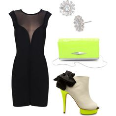 Gorgeous. With a pop of color!? Whhhaaaatt! Must buy those heels. by payyee on Polyvore