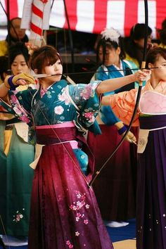 Kyudo or Japanese archery.