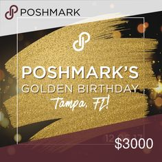 TAMPA, FL - POSH N SIP RSVP HERE!! CoHosts: TBA Location: Panera Bread(on Fowler Avenue) Date: Wednesday, December 6th Time: 3pm est  Cue the champagne, glitter, and confetti—we're celebrating our 6th birthday in Tampa, Florida on December 6th! It's our golden birthday and we're doing it BIG. Come enjoy some sweet treats and party with fellow Poshers!  Bring a $10 gift for the gift exchange. PoshmarkTurns6 Other