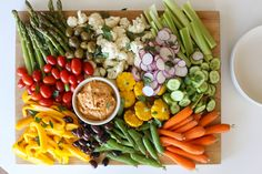 Choose veggies that are bright, seasonal and of course crunchy. When you ensemble the crudite platter try not to over think it and let the veggies speak. Crudite Platter, Veggie Platters, Party Platters, Veggie Tray, Crudites, Appetizers For Party, Appetizer Recipes, Raw Food Recipes, Healthy Recipes
