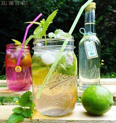 Zitronen/Limetten-Limonade mit zitronenmelisse | http://juli-und-die-welt.blogspot.de/