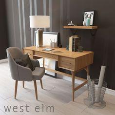 Mid-Century Acorn desk by West elm