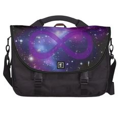 Purple Space Image Laptop Computer Bag