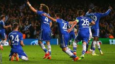 Chelsea win against Paris St. Germaine to move on to the semi-finals of the Champions League Champions League 2014, Paris Saint Germain Fc, Basketball Court, Soccer, The Championship, Chelsea Fc, Psg, Liverpool, Finals