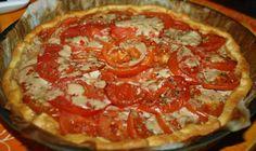 tarte tomates au veggie tuna  et à la moutarde
