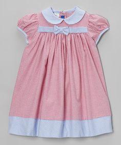 Look at this #zulilyfind! Hot Pink Gingham Dress - Infant & Toddler by Cotton Blu & Cotton Pink #zulilyfinds