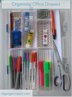 Organising Office Drawers, #Office #Organisation