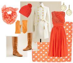 """Orange-red - Spring"" by goldkehlchen on Polyvore"