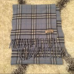 """Plaid Burberry 100% Lambswool Bought this years ago and never wore it so it is in brand new condition. 50"""" long. Burberry Accessories Scarves & Wraps"""