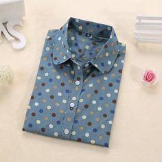 a8e43caaa91d Hot Sale Women Polka Dot Shirt