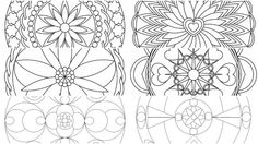 5 Coloring pages Handmade Mandalas for Adults and kids by ItalianaDesign on Etsy