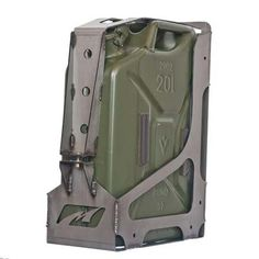 Jerry Can Holder The Motobilt Jerry Can Mount holds a five gallon Jerry Can. This mount can be welded on or universally mounted via the four bolt holes in the back, bottom or sides. Laser cut and formed out of Truck Accesories, 4x4 Accessories, Jimny Suzuki, Truck Mods, 4x4 Trucks, Diesel Trucks, Lifted Trucks, Ford Trucks, Expedition Trailer