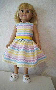 America Girl Doll Spring Dress by CarolinaDollClothes on Etsy, $8.00