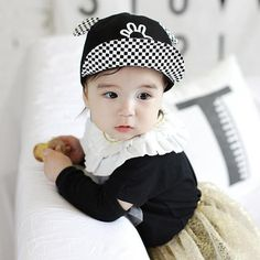 Adorable Baby Baseball Cap with Hand Stitched Ears - Great for 1- 3 years old