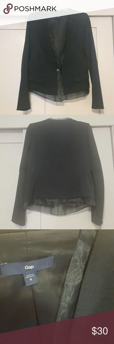 Gap black blazer with sheer lining details This is an awesome blazer and one that I've used for all different occasions. From work to formal events to a casual outfit with jeans, it's a really versatile piece and in great condition. GAP Jackets & Coats Blazers