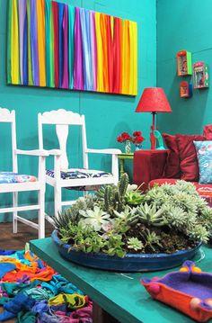 Casa Mega Artesanal é decorada com peças reutilizadas e artesanato - Casa