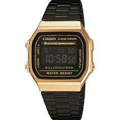 e0f9c00ec02 Relógio Casio Vintage Digital Fashion A168WEGB-1BDF Unissex