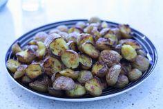 Sprøde knækkede kartofler