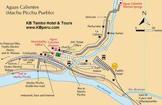 Map of Aguas Calientes, Peru (gateway to Machu Picchu)