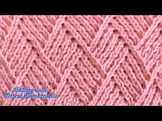 TEJIDOS A DOS AGUJAS: 82- Rombos Lineales/ KNITTING WITH TWO NEEDLES: Linear Rhombus - YouTube Easy Knitting Patterns, Knitting Stitches, Knitting Designs, Knitting Projects, Baby Knitting, Stitch Patterns, Cross Stitch Art, Crochet Tablecloth, Tapestry Weaving