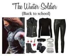 """The Winter Soldier (Back to School)"" by ghostpvnk ❤ liked on Polyvore featuring Yves Saint Laurent, rag & bone, Steve Madden, Topshop, Whistles, Express, Lauren Ralph Lauren and BridgetsMarvelFashion"