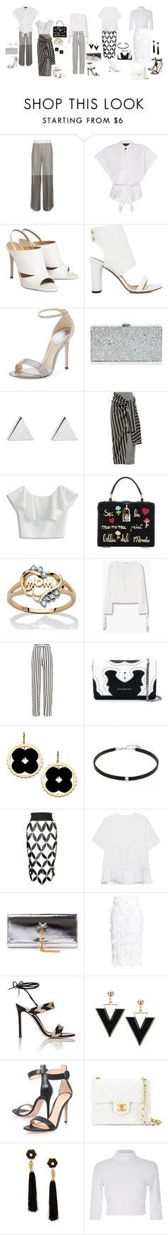 """a"" by yusufbudiman on Polyvore featuring Cecilia Pradomurion, IRO, René Caovilla, Milly, Jennifer Meyer Jewelry, Joseph, Chicwish, Dolce&Gabbana, Palm Beach Jewelry and MANGO"