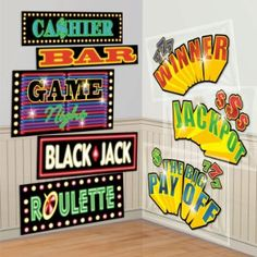 Amazon.com : Casino Signs Add-Ons : Casino Party Supplies : Patio, Lawn & Garden