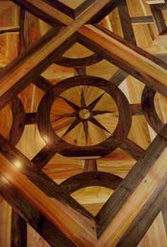 Atelier des Granges (French parquet) - Detail of marquetery - #203