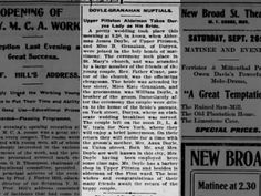 James Doyle Bridget Granahan Nuptials Pittston Gazette 23 Sep 1903