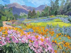Meadow with Poppies Pastel Landscape, Watercolor Landscape, Landscape Art, Landscape Paintings, Watercolor Paintings, Watercolor Artists, Acrylic Paintings, Oil Paintings, Painting Art