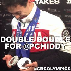 It's a double double for Patrick Chan! He leaves Sochi with TWO silver medals. Patrick Chan, I Am Canadian, Winter Olympics, Figure Skating, Athlete, Pride, Canada, Leaves, Colours
