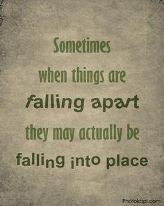 Falling Apart vs Falling Into Place