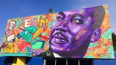 For Martin Luther King Jr. Day we look back at the awesome mural by Madsteez in Compton Art Pictures, Art Pics, Tumblr Girl Drawing, Art Therapy Activities, Flower Doodles, Mexican Art, Street Art Graffiti, Art Journal Pages, Black History Month