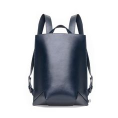 AGNESKOVACS Lié Backpack Deep Blue. #agneskovacs #bags #leather #lining #backpacks #