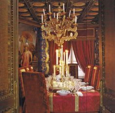 The Dining Room decorated by Alidad. Photo by Simon Upton for House & Garden.