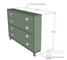 Ana White | Build a Shoe Dresser | Free and Easy DIY Project and Furniture Plans