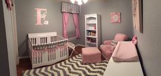 A pink and grey elephant nursery theme for our second baby& nursery. Grey Room Decor, Pink Bedroom Decor, Girls Bedroom, Nursery Room, Girl Nursery, Girl Room, Pink And Gray Nursery, Babies Nursery, Nursery Decor