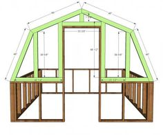 Ana White Build a Barn Greenhouse DIY Project and Furniture Plans Building A Chicken Coop, Building A Shed, Building Plans, Green Building, Ana White, Diy Greenhouse Plans, Greenhouse Gardening, Greenhouse Wedding, Indoor Greenhouse