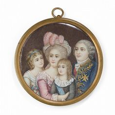 A portrait miniature of Louis XVI, Marie Antoinette and their two children. Dated 1789. [source: Invaluable]