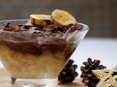 Pudim de Bananas com Chocolate -