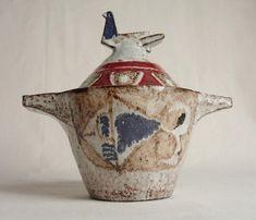 Jean Derval Lidded Bird Pot