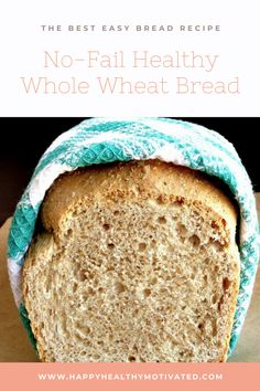 Making homemade bread isn't as tricky as you think. This really is the best ever… Making homemade bread isn't as tricky as you think. This really is the best ever healthy homemade bread and its so easy even kitchen newbies can make it. Healthy Homemade Bread, Healthy Bread Recipes, Healthy Breakfast Recipes, Snack Recipes, Cooking Recipes, Healthy Snacks, Healthy Sides, Heart Healthy Bread Recipe, Vegetarian Recipes